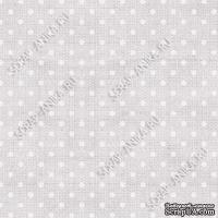 Скрапбумага для форзацев Коллекция 5_2., Горошки на сером, односторонняя, 20х29 см