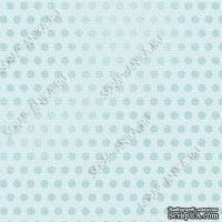 Скрапбумага для форзацев Коллекция 6_3, Горошки на голубом, односторонняя, 20х29 см