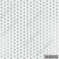 Скрапбумага для форзацев Коллекция 6_4, Горошки на серо-голубом, односторонняя, 20х29 см
