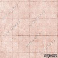 Скрапбумага для форзацев Коллекция 9_5, Клетка на бежевом, односторонняя, 20х29 см