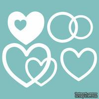 Чипборд от Вензелик - Набор сердечек 03, размер: 100*100 мм