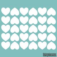 Чипборд от Вензелик - Набор сердечек 04, размер: 115*145 мм