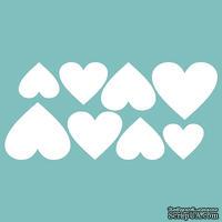 Чипборд от Вензелик - Набор сердечек 05, размер: 53*115 мм