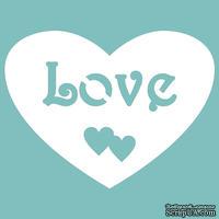 """Чипборд от Вензелик - Сердечко """"Love"""", размер: 33*44 мм"""