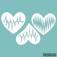 Чипборд от Вензелик - Набор сердечек 06, размер: 68*104 мм