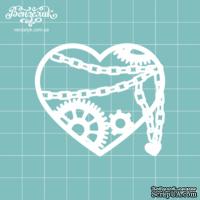 Чипборд от Вензелик - Сердце стимпанк 02, размер: 5,1 x 5,8 см