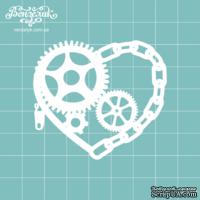 Чипборд от Вензелик - Сердце стимпанк 03, размер: 5,3 x 6 см