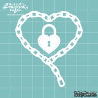 Чипборд от Вензелик - Сердце стимпанк 04, размер: 6,2 x 6,9 см
