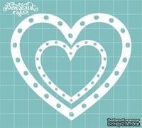 Чипборд от Вензелик - Набор сердечек 08, размер:  75x84 мм