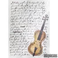 Акриловый штамп La Blanche - Script Violin