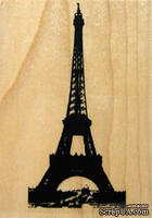 Набор резиновых штампов Hampton Art - Eiffel Tower, на деревянном блоке