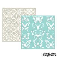 Набор папок для тиснения Lifestyle Crafts - QuicKutz - Butterfly, 2 штуки