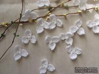 """Уютный декор от LESHCHENKO - Вязаный цветочек """"Гортензия"""" (три лепестка), 1 шт."""