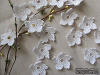 """Уютный декор от LESHCHENKO - Вязаные цветочки в наборе """"Middle"""", 4 шт."""