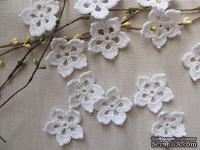 """Уютный декор от LESHCHENKO - Вязаные цветочки в наборе """"Polka"""", 4 шт."""