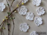 """Уютный декор от LESHCHENKO - Вязаные цветочки в наборе """"Sakura"""" (широкий лепесток), 4 шт."""
