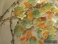 """Уютный декор от LESHCHENKO - Вязаные ажурные листочки в наборе """"Autumn/Осенний"""", 4 шт."""
