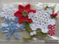 Уютный декор от LESHCHENKO - Вязаный набор «Новогодний», 8 шт.