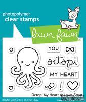 Штампы + ножи от Lawn Fawn - Octopi My Heart, 10 шт. + 4 шт.