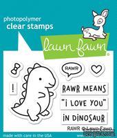 Штампы от Lawn Fawn - RAWR, 8 шт