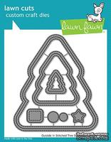 Ножи от lawn Fawn - Outside in stitched christmas tree stackables