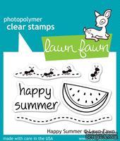 Штампы + ножи от Lawn Fawn - Happy Summer, 5 шт. + 3 шт.
