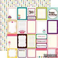 Лист двусторонней бумаги от Echo Park-Journaling Cards