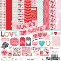 Набор бумаги от Echo Park - Lucky In Love , 12+2 листа, 30х30 см