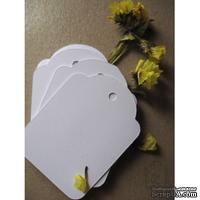 Теги-заготовки Lesia Zgharda LL018 Белые маленькие, 10 штук