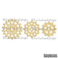 Лезвие La-La Land Crafts - Steampunk Heart Cogs (set of 3)