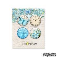 Фишки LemonCraft - Forget Me Not Buttons, на клеевой основе