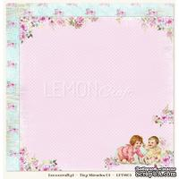 Бумага для скрапбукинга LemonCraft - Tiny Miracles - 03, двусторонняя, 30х30 см, 1 лист