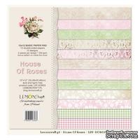 Набор скрапбумаги LemonCraft - House of Roses Basic, фоновые дизайны, 30х30 см, с бонусом