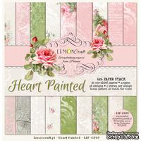Набор скрапбумаги LemonCraft - Heart Painted, 15х15 см