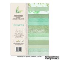 Набор скрапбумаги LemonCraft -  Leaves 01, basic, 21.1х29.7 см, двусторонняя