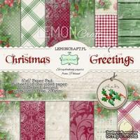 Набор скрапбумаги LemonCraft - Christmas Greetings, 15х15 см