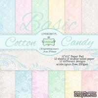 Набор скрапбумаги LemonCraft - Cotton Candy Basic, фоновые дизайны, 30х30 см, с бонусом