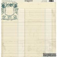 Лист скрапбумаги Authentique Devoted, 30х30 см, двусторонняя