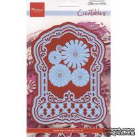 Лезвие Marianne Design - Creatables Dies - Anja's Label Frame & Flowers