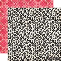 Лист скрапбумаги от Echo Park - Leopard Print Paper - двусторонняя, 30х30 см