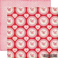 Лист скрапбумаги от Echo Park - Roses Paper - двусторонняя, 30х30 см