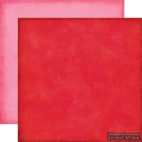 Лист скрапбумаги от Echo Park - Red/Pink Paper - двусторонняя, 30х30 см