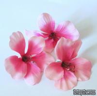 Гибискус тканевый розовый, 6 см