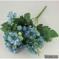 Букет бирюзово-голубых цветов