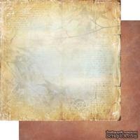 Лист двусторонней бумаги для скрапбукинга Медовый пунш 002, дизайн Елены Виноградовой, 30х30см, 200г/м