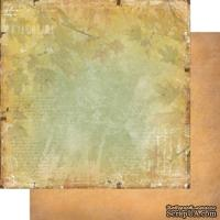 Лист двусторонней бумаги для скрапбукинга Медовый пунш 003, дизайн Елены Виноградовой, 30х30см, 200г/м