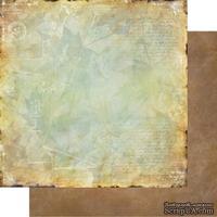 Лист двусторонней бумаги для скрапбукинга Медовый пунш 005, дизайн Елены Виноградовой, 30х30см, 200г/м