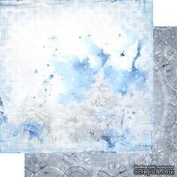 Лист двусторонней бумаги для скрапбукинга Зимння тайна 002, дизайн Елены Виноградовой, 30х30см, 200г/м