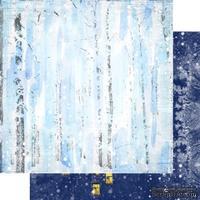 Лист двусторонней бумаги для скрапбукинга Зимння тайна 003, дизайн Елены Виноградовой, 30х30см, 200г/м