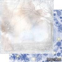 Лист двусторонней бумаги для скрапбукинга Зимння тайна 004, дизайн Елены Виноградовой, 30х30см, 200г/м